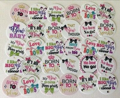 """30 PRECUT 1"""" Bow quotes and sayings Bottle Cap Images Free Shipping #3"""