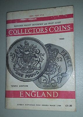 1983 Collectors Coins ENGLAND Richards Pocket Reference & Price Guide 81 pages
