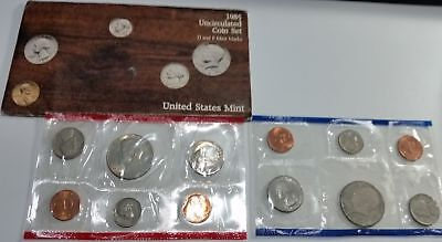 USA American UNC Mint 1985 D&P coin sets in cellophane & original envelope