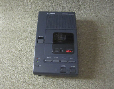 Sony M-2020 Microcassette Dictator Transcriber - HAS AN ISSUE. READ FOR DETAIL