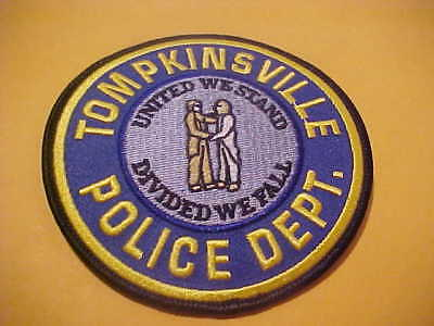 Tompkinsville Kentucky Police Patch Shoulder Size Unused M   4 X 4 Inch