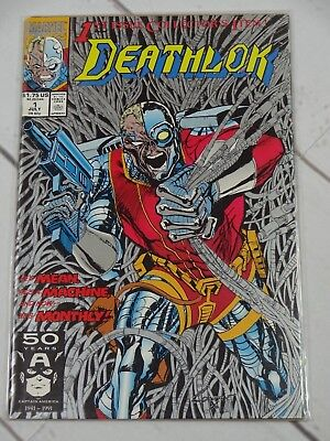 DEATHLOK #1 Marvel July 1991 McDuffie/Wright Denys Cowan - C2425