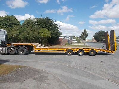 2011 King GTS 44 low loader trailer step frame ramps out riggers MOT Jan 2021