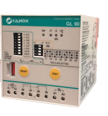 Fanox GL90 Integral Motor Protection Relay 30 - 60hp