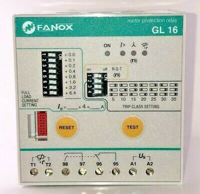 Fanox GL16 Integral Motor Protection Relay 3 - 10hp (230V Aux)