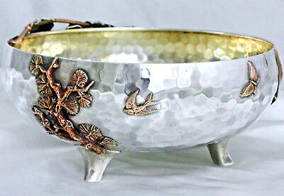 A Gorham Sterling Silver & Mixed Metals Japanese-Style Centerpiece Bowl, #1725