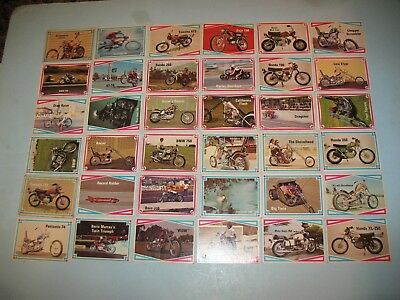 VTG 1972 BIKE DIGEST, CHOPPERS & HOT BIKES COMPLETE CARD SET  of 66 cards