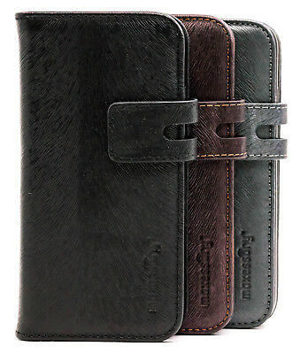 Apple iPhone 7 Case, iPhone 8 Case, Real Leather Card Holder Wallet Cover