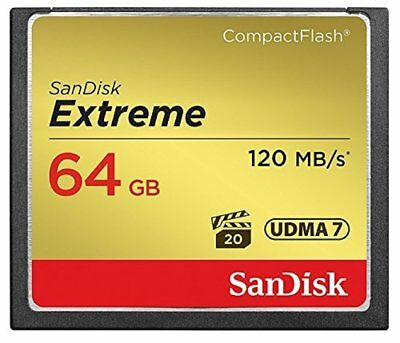 SanDisk Extreme 64 GB UDMA7 CompactFlash Card - Black/Gold-Brand New