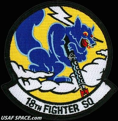 USAF 18TH FIGHTER SQUADRON - Eielson AFB, AK- ORIGINAL AIR FORCE VEL PATCH