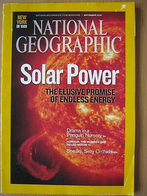 National Geographic magazine September 2009 Solar Power Penguin Nursery Orchids