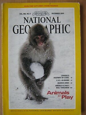 National Geographic magazine December 1994 CSS Alabama Buenos Aires Walt Whitman