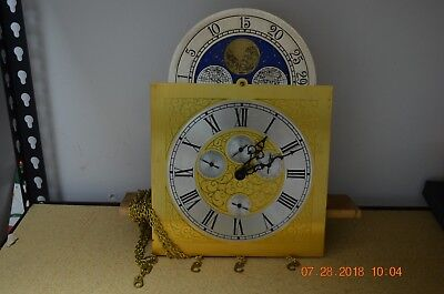 Hermle Grandfather Clock with Dial fully serviced and working with 4 features