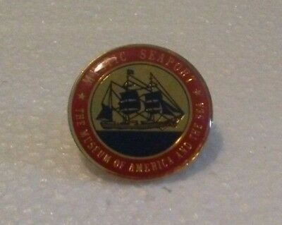 Mystic Seaport Lapel Pin Museum of America and the Sea Connecticut