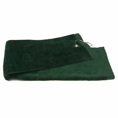 3X(1pcs Golf towel sports towel fitness towel with hook Army Green J2A4