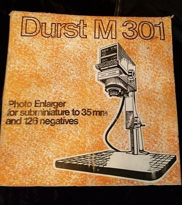 DURST M301 PHOTOGRAPHIC FILM ENLARGER 35mm - New in org. box