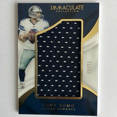 Tony Romo Immaculate 2017 Jersey Patch NFL Trading Card