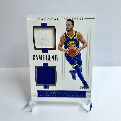 Stephen Curry National Treasures 2018 Game Gear NBA Trading Card