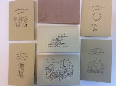 Set of 6 handmade blank greeting cards classic winnie the pooh set of 6 handmade blank greeting cards classic winnie the pooh birthday etc m4hsunfo