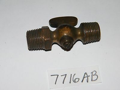 "New Old Stock Brass 3/8"" NPT Shut Off Valve Drain Cock Petcock Hit Or Miss"