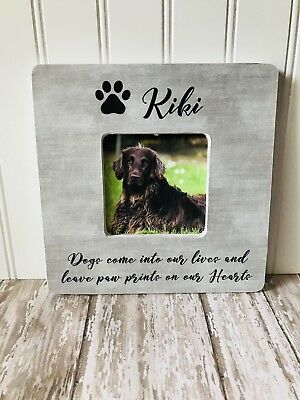 Dog Memorial Photo Picture Frame Personalized Pet Memorial