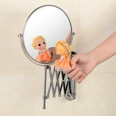 Wall Mounted Bathroom Shaving Beauty Makeup Cosmetic Mirror Round 3x Magnify