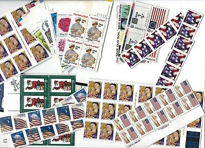 2 Stamp combo Postage for 20 First Class letters Face $10
