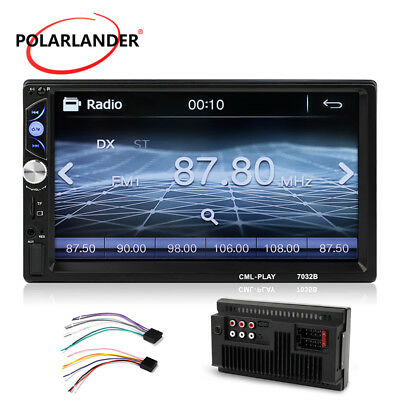 """In Dash USB/AUX/FM/SD HD 7"""" Bluetooth Double 2Din Car Radio Stereo MP5 Player"""