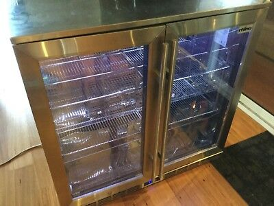 Rhino 2 Door Alfresco Bar Fridge 210 Litre Stainless Steel With