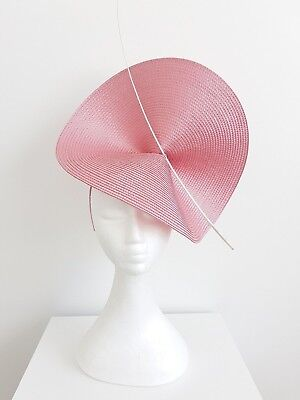 Miss Moneypenny  womens large disk headband fascinator in Rose Pink