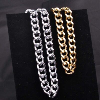 """15mm Stainless Steel Heavy Wide Curb Chain Necklace for Men Hip Hop Style 8-40"""""""