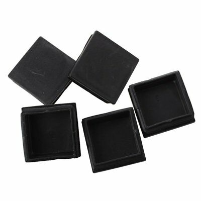 5 pieces Plastique Carre Obturation Embouts Inserts Tuyaux Tube 50mm x 50mm P7F1