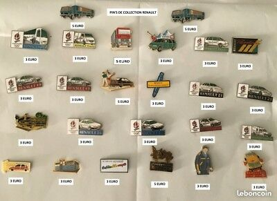 25 pin's de collection Renault