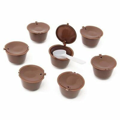 10 PCS Rechargeable Reusable Coffee Capsule Filter for Nescafe Dolce Gusto F7I2