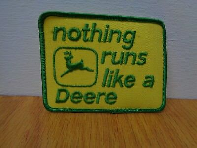 Vintage Nothing Runs Like A Deere Patch #0