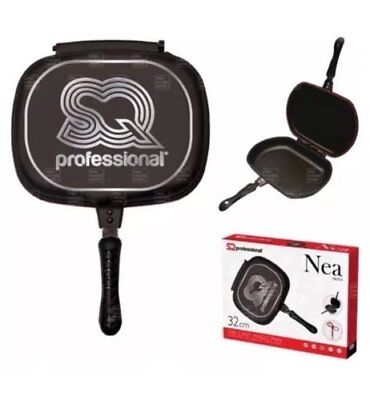 SQ Professional Double Sided 32cm Die-Cast Magic Griddle Pan by SQ (M7y)