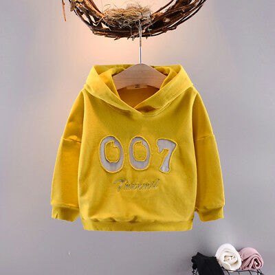 Kids Fashion Baby Boys Girls Clothing Tops Hoodies Pullovers Cotton Casual Coats