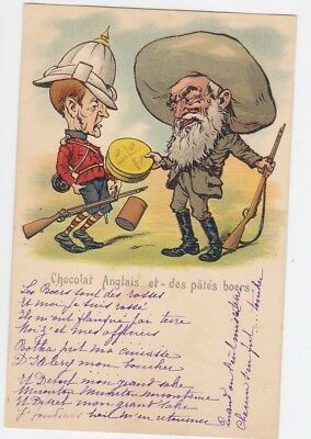 Postcard Transval Anglo Boer War Caricature Satire Chocolat