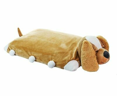 Pillow Pets -Puppy Dog 100% Natural Latex Pillow with Case Foldable Pillow Toy