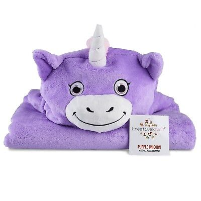 Kids Huggable Hooded Blanket – Plush Unicorn Blanket For Baby Boys & Baby Girls