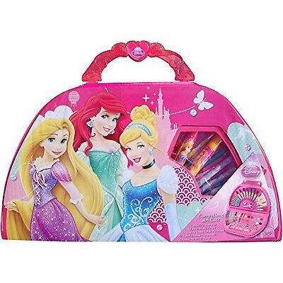 Girls Pink Disney Princess Carry Along Full Art Set by Disney Fold Up Carry Case