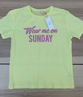 Matalan Candy Couture Girls Yellow Short Sleeve Top - Age 11 Years - BNWT