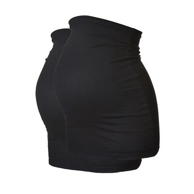 2 Pack LONG Maternity Belly Band/Bump Band by Harry Duley. Cotton. Black & Black