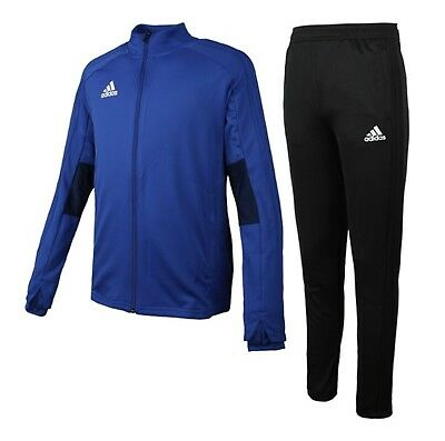 Adidas Youth Condivo 18 Training Suit Set Soccer Blue Kid Shirts Pants BS0584