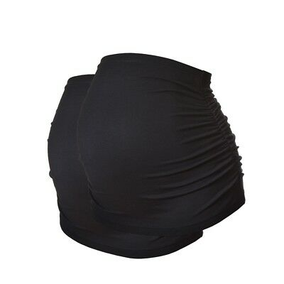 Pack of 2 Black Ruched Maternity Belly Bands/Bump Bands by Harry Duley. Cotton.