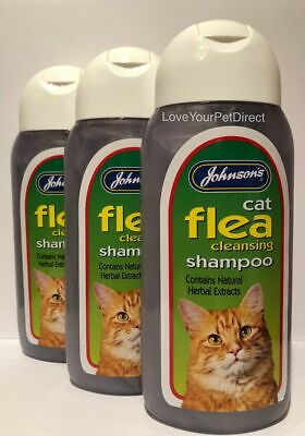 Johnsons Cat Flea Shampoo Cleansing 200ml for Cats and Kittens SAMEDAY DISPATCH