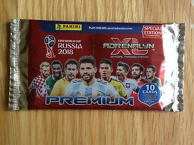 Panini Fifa World Cup 2018 Russia Premium Special Edition Packet with 1 Ltd Card