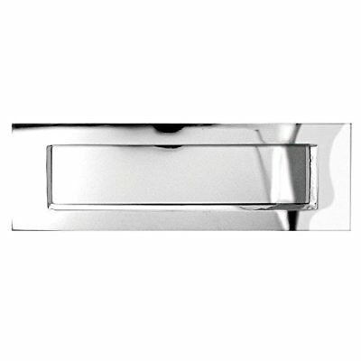 Traditional Letter Plate Polished Chrome 279 x 89mm by Jedo (p1x)