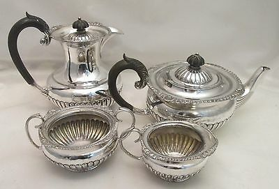 A Silver Plated 4 Piece Tea Set - late 19th Century - Atkins Bros