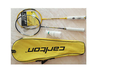 Carlton Badminton Set  For 2 Players, 2 Rackets, 3 Shuttlecocks, Case Cover